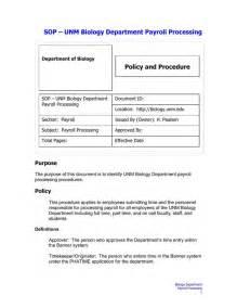 standard operating procedure template download free