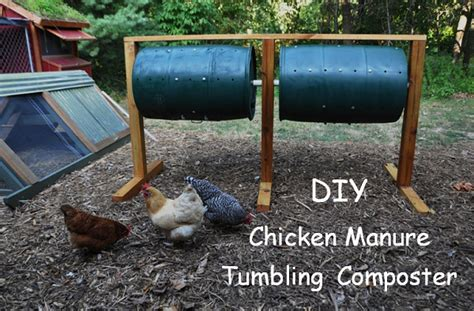best backyard composter diy chicken manure tumbling composter community chickens