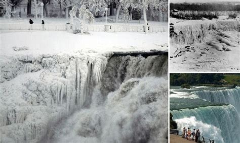 Niagara Falls Marriage Records Niagara Falls Freezes As Polar Vortex Sees Record Breaking Temperatures Daily Mail