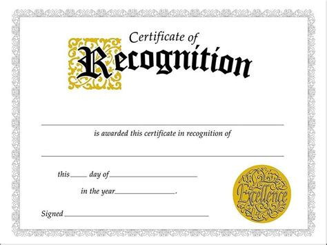 Recognition Template