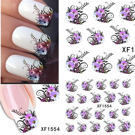Nail Bonbon Water Decals Xf Series Part 2 aliexpress buy 1sheets diy designs pretty flower water stickers nail manicure