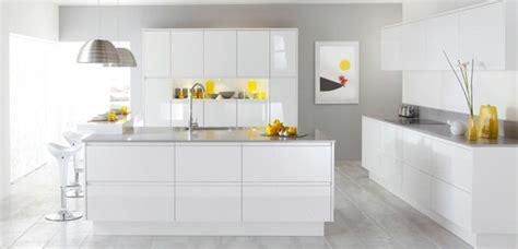 cocinas modernas blancas  el hogar