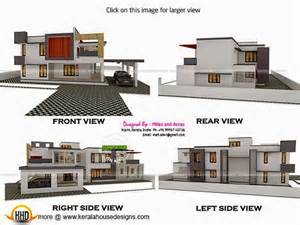 Home Design For 4000 Square Feet 3d view with plan kerala home design and floor plans