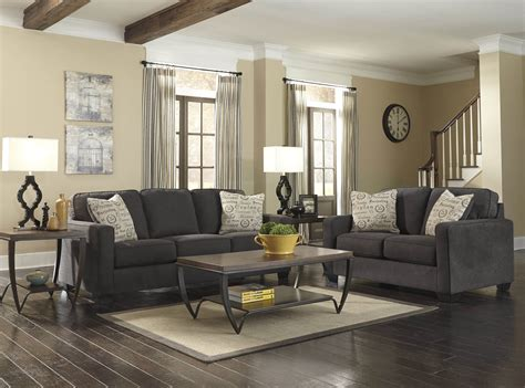 technique charcoal sofa and loveseat fabric living room charcoal sofa set mitiaro 4 sofa set grey and