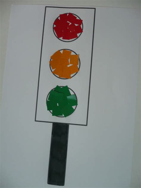 crafts on paper traffic lights family crafts