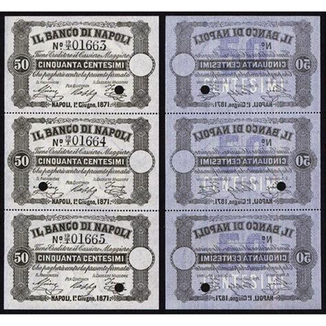 banco di napoli t banco di napoli 1867 70 fedi di credito regular