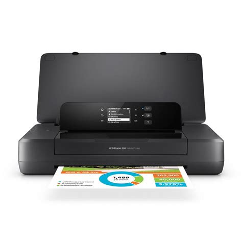 wireless mobile hp officejet 200 portable printer with