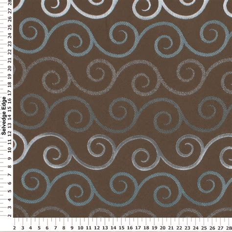 teal and brown upholstery fabric decorator fabric teal and silver swirls on brown drapery