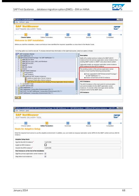 how to upgrade to bw 73 sap first guidance using the dmo option to migrate bw on