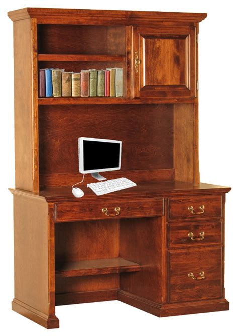 Desk With Hutch And Drawers Traditional Desk And Hutch With Pencil Drawer Traditional Desks And Hutches By Oak Arizona