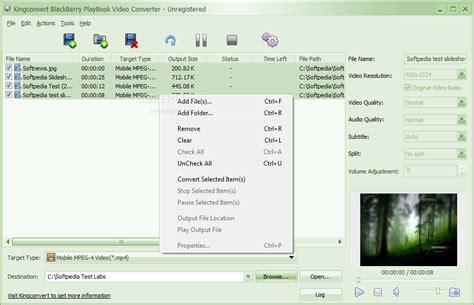 download mp3 video converter for blackberry kingconvert blackberry playbook video converter download