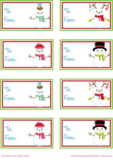 printable snowman tags pamela smerker designs 12 days of christmas day 8