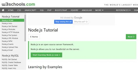 tutorial node js website best nodejs getting started tutorials on air code