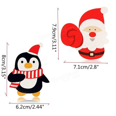 Accesories Aksesoris Asesoris Natal Santa Claus 50pcs santa claus penguin lollipop paper card decor sale banggood