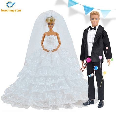 ken wedding leadingstar princess doll white eight layers lace