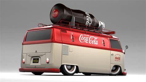 coca cola vw  panel bus   custom hot wheels decals