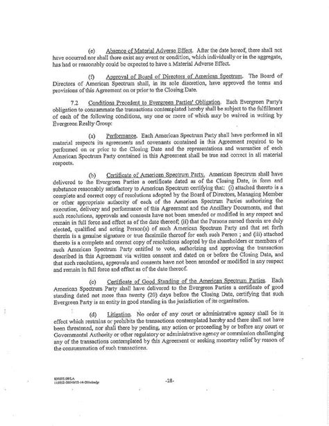 section 32 contract contract by american spectrum realty inc