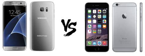 samsung galaxy s7 edge vs iphone 6s plus comparativa