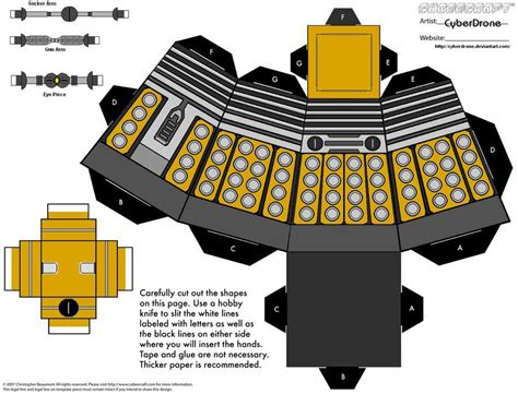 Papercraft Dalek - doctor who paper crafts gadgetsin