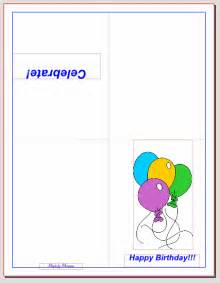 Foldable Birthday Card Template Pics Photos Quarter Fold Birthday Card Template