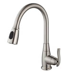 Kitchen Faucets Pull Out Spray Kraus Kpf 2230sn Single Handle Pull Out Spray Kitchen Faucet In Satin Nickel Homeclick