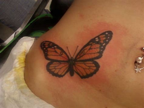 monarch butterfly tattoo meaning beautiful monarch butterfly waist hip for