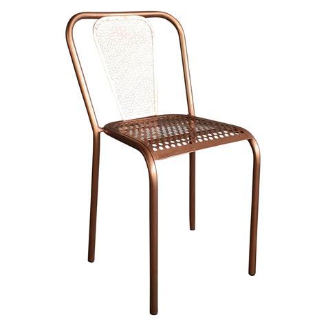 chaise en métal chaise en m 233 tal style vintage couleur cuivr 233 e demeure et