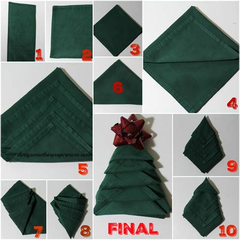 how to fold napkins into trees
