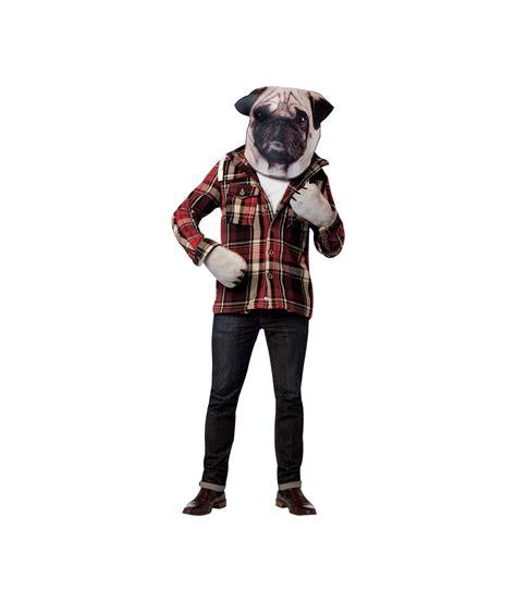 pug costume for adults pug photo print mask costume