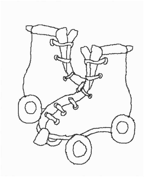 Roller Skate Coloring Page free coloring pages of on roller skates