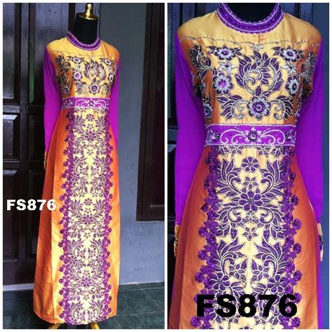 Suplier Baju Muslimah Gamis Cantik Bahan Jaguar Glitter Import Limite 1 fs876b fika shop