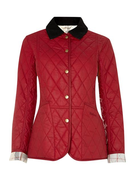 barbour quilted wax summer liddesdale jacket in lyst