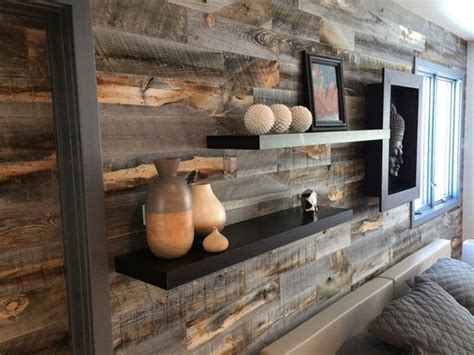 buy reclaimed wood accent wall coverings walls with a story reclaimed weathered wood peel and stik wall planks