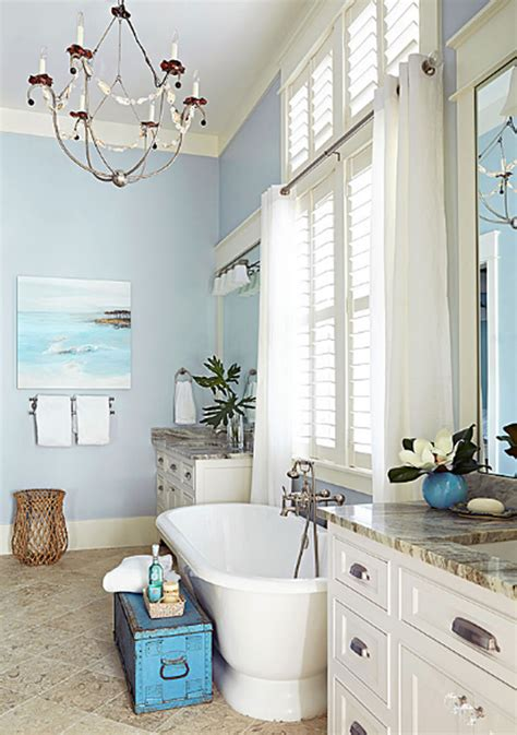 beachy bathroom spacious beach house with ocean painting home design and
