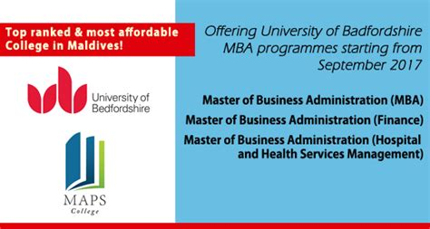 Of Bedfordshire Mba In Hospital Management by Three New Uk Mba Programmes Delivered At Maps College
