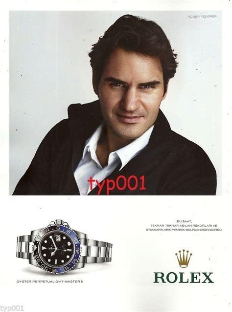 rolex print ads rolex 2014 roger federer gmt master ii turkish print ad