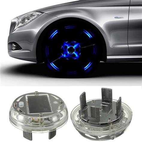 modes  led car auto solar energy flash wheel tire rim