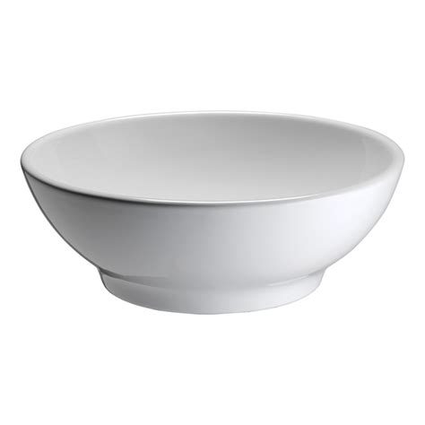 round bathroom sinks shop barclay white vessel round bathroom sink at lowes com