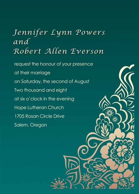 Cheap Green Wedding Invitations by Damask Emerald Green Wedding Invitations Ewi029 As