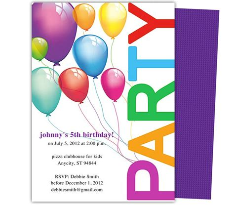 birthday invite templates 23 best birthday invitation templates images on