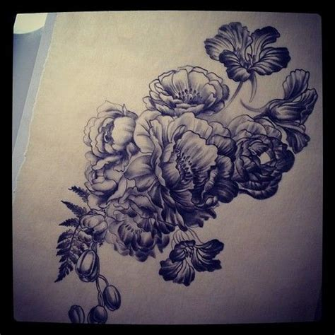tattoo flower instagram tonal study for justins flowers taken with instagram