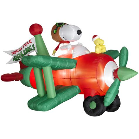 shop holiday living 3 6 ft inflatable fabric snoopy in