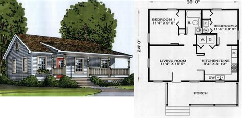 cottage floor plans small