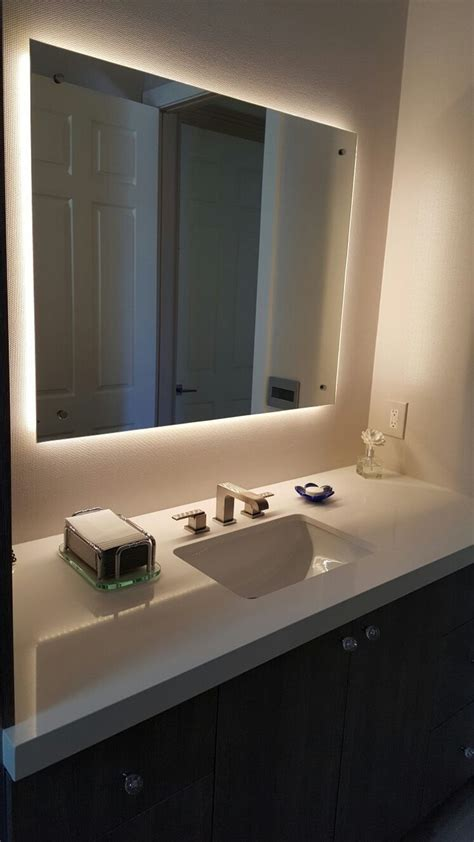 backlit mirrors for bathrooms 1000 ideas about lighted vanity mirror on pinterest diy