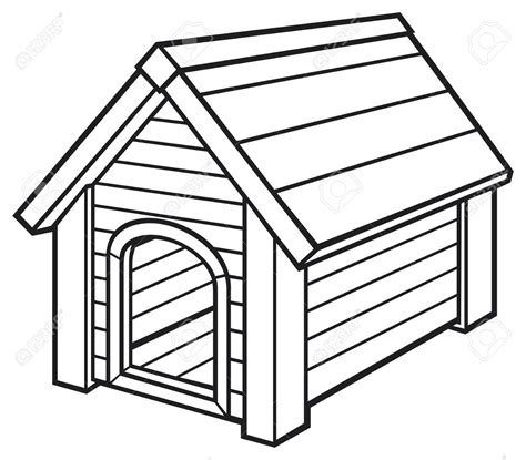 dog house clipart dog house clipart black and white clipartxtras
