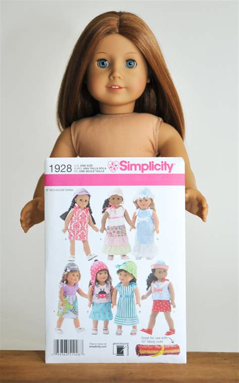pattern doll clothes 10 inch 18 inch doll clothes pattern simplicity 1928 new