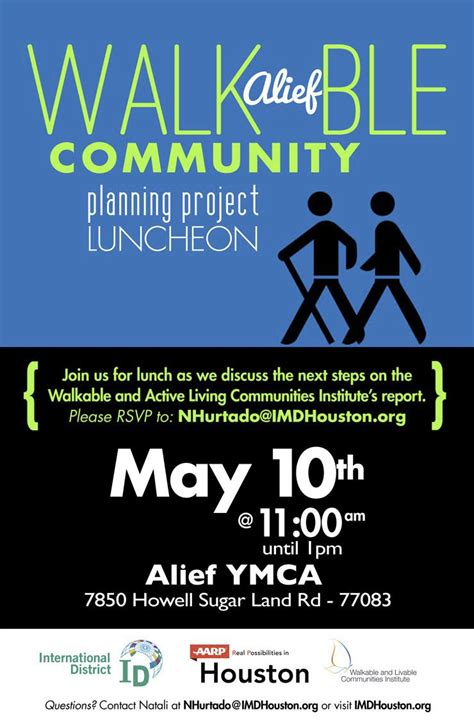 Alief Calendar Walkable Alief Community Planning Project Luncheon