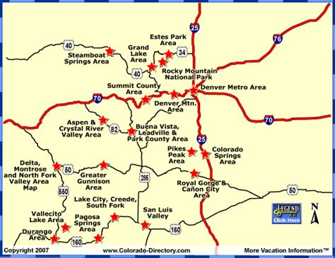colorado ski resorts map colorado maps local area co vacation directory