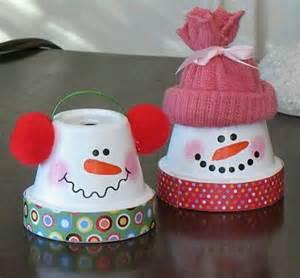 terra cotta snowmen christmas pinterest