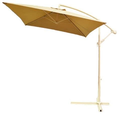 Square Cantilever Patio Umbrella Adjustable Taupe Cantilever Square Patio Umbrella With Crank Traditional Outdoor Umbrellas